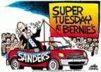 Cartoonist Mike Peters  Mike Peters' Editorial Cartoons 2016-03-02 2016 Election Bernie Sanders