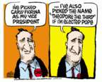 Cartoonist Mike Peters  Mike Peters' Editorial Cartoons 2016-04-29 Carly Fiorina