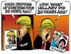 Cartoonist Mike Peters  Mike Peters' Editorial Cartoons 2016-05-16 2016 Election Hillary Clinton