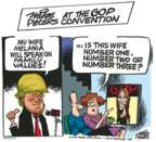 Cartoonist Mike Peters  Mike Peters' Editorial Cartoons 2016-07-19 two