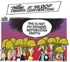 Cartoonist Mike Peters  Mike Peters' Editorial Cartoons 2016-07-19 2016 Republican convention