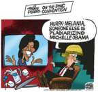 Cartoonist Mike Peters  Mike Peters' Editorial Cartoons 2016-07-26 2016 political convention