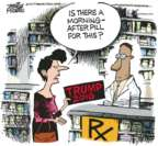 Cartoonist Mike Peters  Mike Peters' Editorial Cartoons 2017-01-24 2016 election