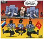Cartoonist Mike Peters  Mike Peters' Editorial Cartoons 2017-07-14 Russia
