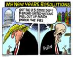 Cartoonist Mike Peters  Mike Peters' Editorial Cartoons 2017-12-28 international politics