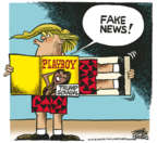 Cartoonist Mike Peters  Mike Peters' Editorial Cartoons 2018-07-26 fake news