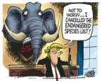 Cartoonist Mike Peters  Mike Peters' Editorial Cartoons 2018-08-10 republican politician
