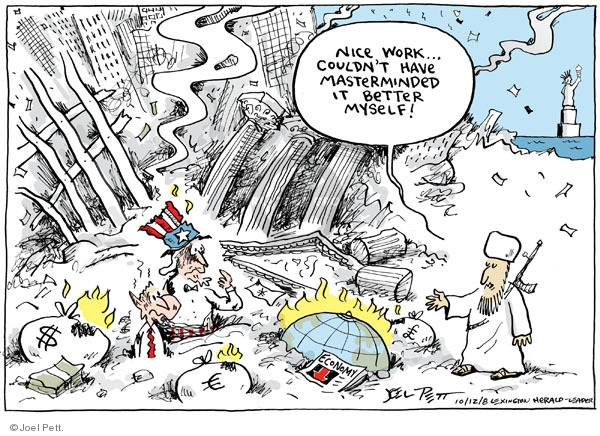 Cartoonist Joel Pett  Joel Pett's Editorial Cartoons 2008-10-12 recession