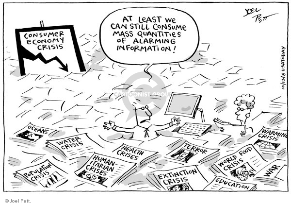 Cartoonist Joel Pett  Joel Pett's Editorial Cartoons 2008-10-13 recession
