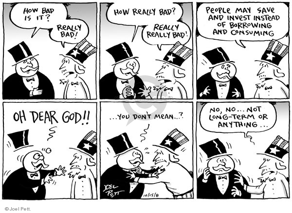 Cartoonist Joel Pett  Joel Pett's Editorial Cartoons 2008-10-15 God