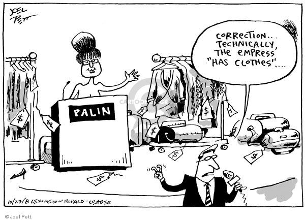 Cartoonist Joel Pett  Joel Pett's Editorial Cartoons 2008-10-23 Alaska