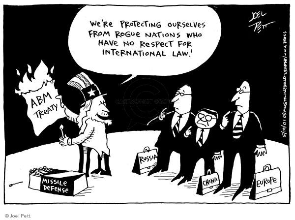Joel Pett  Joel Pett's Editorial Cartoons 2002-05-10 agreement