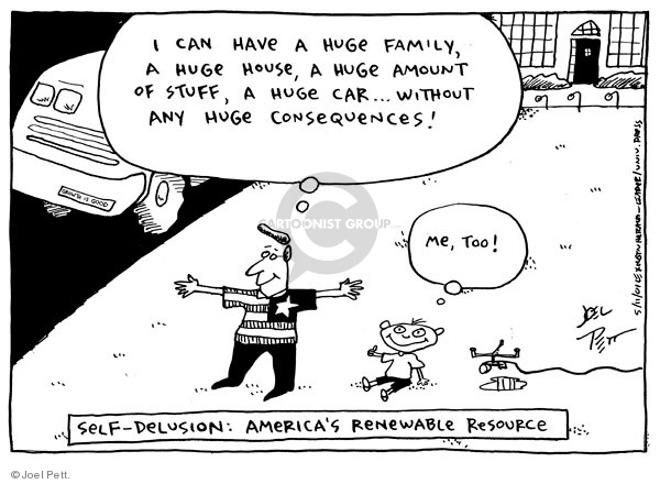 Cartoonist Joel Pett  Joel Pett's Editorial Cartoons 2002-05-11 family