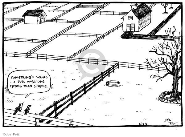 Cartoonist Joel Pett  Joel Pett's Editorial Cartoons 2002-05-15 habitat