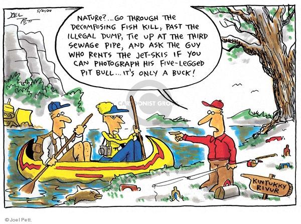 Joel Pett  Joel Pett's Editorial Cartoons 2000-05-21 fish