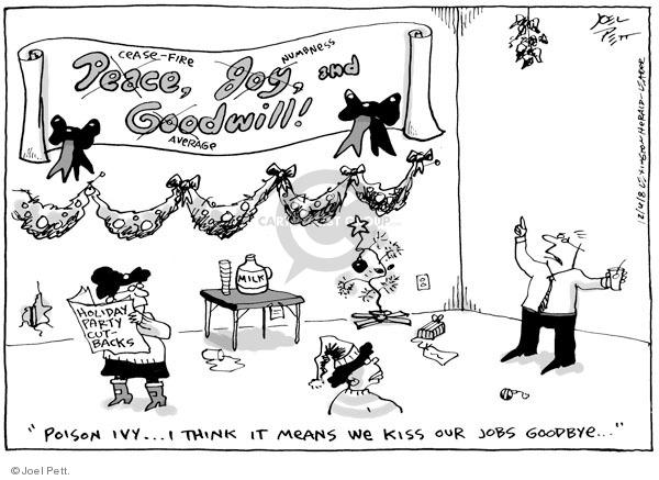 Joel Pett  Joel Pett's Editorial Cartoons 2008-12-04 kiss