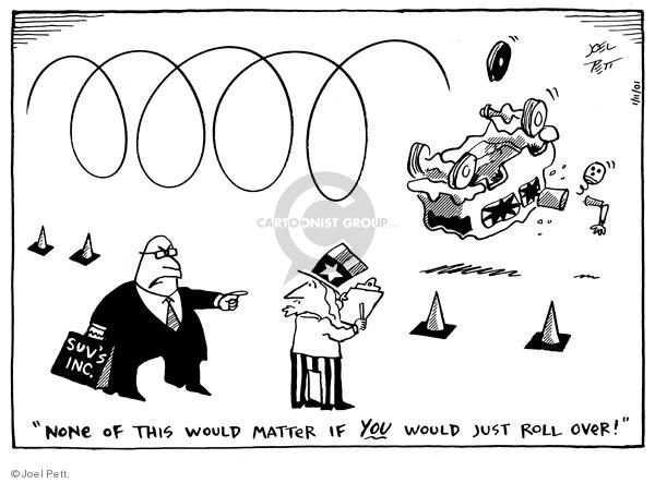 Cartoonist Joel Pett  Joel Pett's Editorial Cartoons 2001-01-11 standard