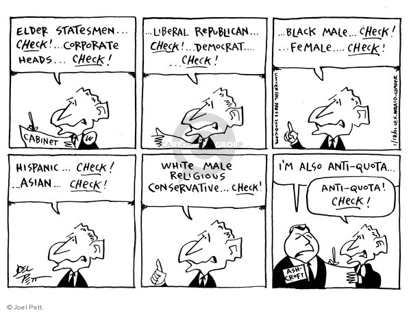 Joel Pett  Joel Pett's Editorial Cartoons 2001-01-18 appointment