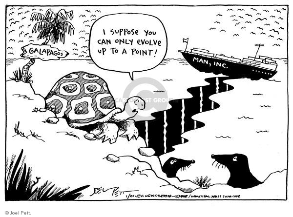 Joel Pett  Joel Pett's Editorial Cartoons 2001-01-25 turtle