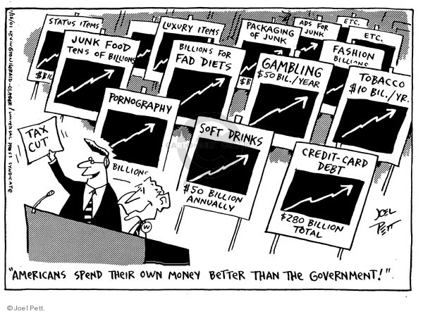 Cartoonist Joel Pett  Joel Pett's Editorial Cartoons 2001-01-26 Government Spending