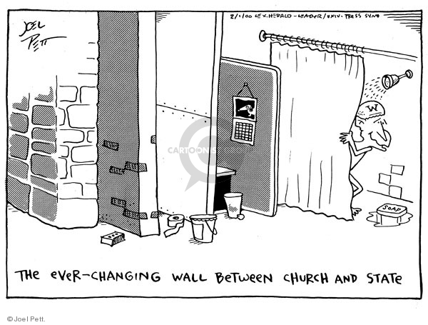 Joel Pett  Joel Pett's Editorial Cartoons 2001-02-01 separation