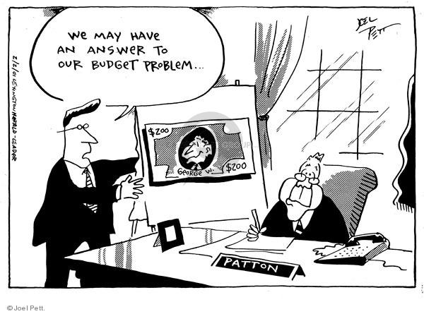 Joel Pett  Joel Pett's Editorial Cartoons 2001-02-02 $200