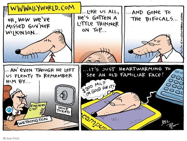 Cartoonist Joel Pett  Joel Pett's Editorial Cartoons 2001-02-11 state