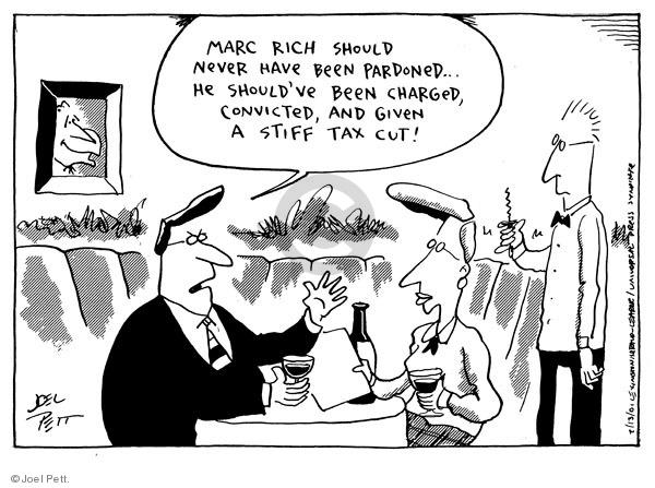 Cartoonist Joel Pett  Joel Pett's Editorial Cartoons 2001-02-13 Bill Clinton