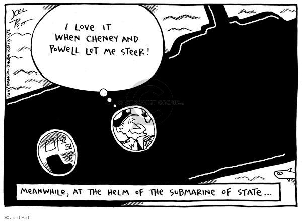 Cartoonist Joel Pett  Joel Pett's Editorial Cartoons 2001-02-17 leader