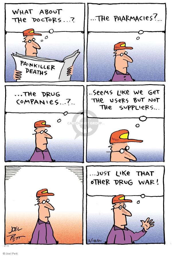 Cartoonist Joel Pett  Joel Pett's Editorial Cartoons 2001-02-18 medicine