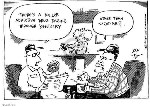 Cartoonist Joel Pett  Joel Pett's Editorial Cartoons 2001-02-20 killer