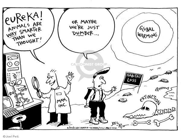 Joel Pett  Joel Pett's Editorial Cartoons 2001-02-22 endangered