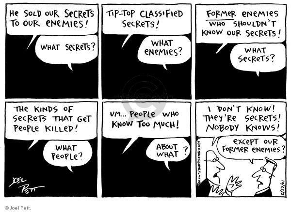Joel Pett  Joel Pett's Editorial Cartoons 2001-02-23 secret
