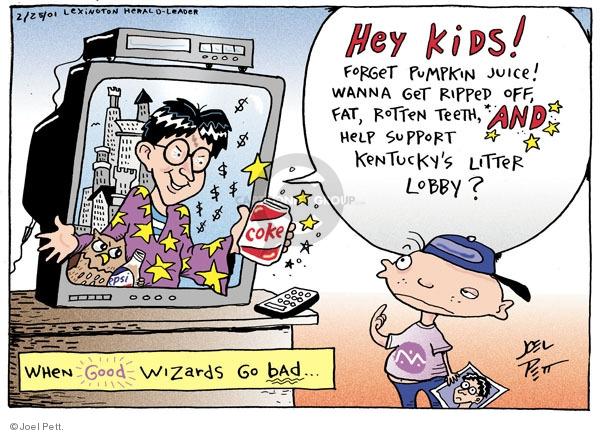 Cartoonist Joel Pett  Joel Pett's Editorial Cartoons 2001-02-25 rip