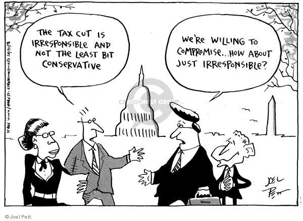 Cartoonist Joel Pett  Joel Pett's Editorial Cartoons 2001-03-14 George W. Bush