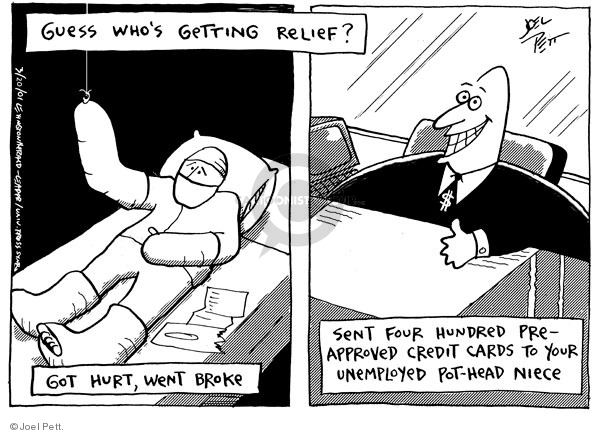 Cartoonist Joel Pett  Joel Pett's Editorial Cartoons 2001-03-20 debt