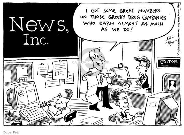 Cartoonist Joel Pett  Joel Pett's Editorial Cartoons 2001-03-27 medicine