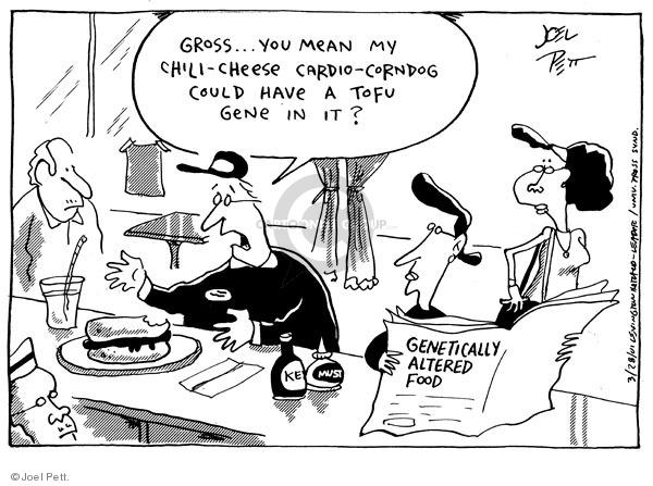 Cartoonist Joel Pett  Joel Pett's Editorial Cartoons 2001-03-28 corn dog