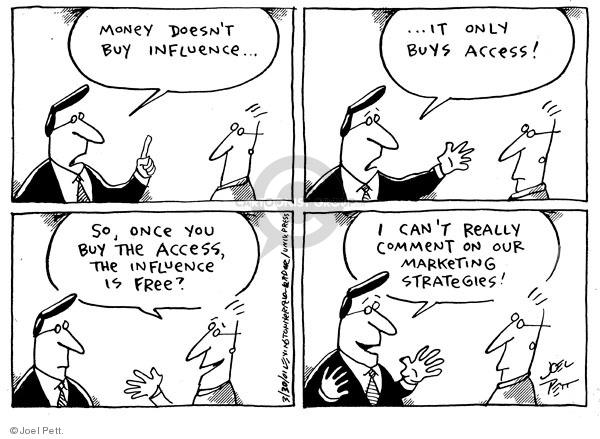 Cartoonist Joel Pett  Joel Pett's Editorial Cartoons 2001-03-30 lobbyist