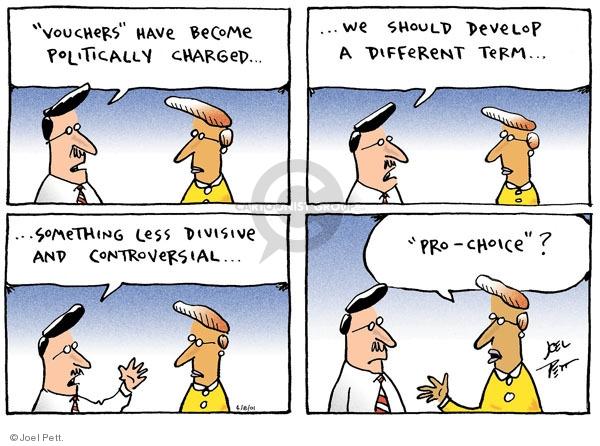 Cartoonist Joel Pett  Joel Pett's Editorial Cartoons 2001-04-08 choice