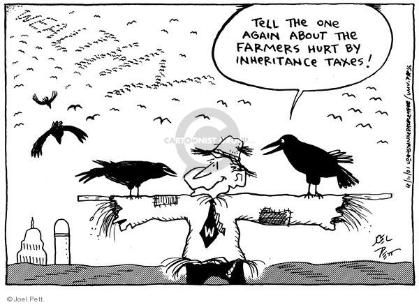 Joel Pett  Joel Pett's Editorial Cartoons 2001-04-11 agriculture tax