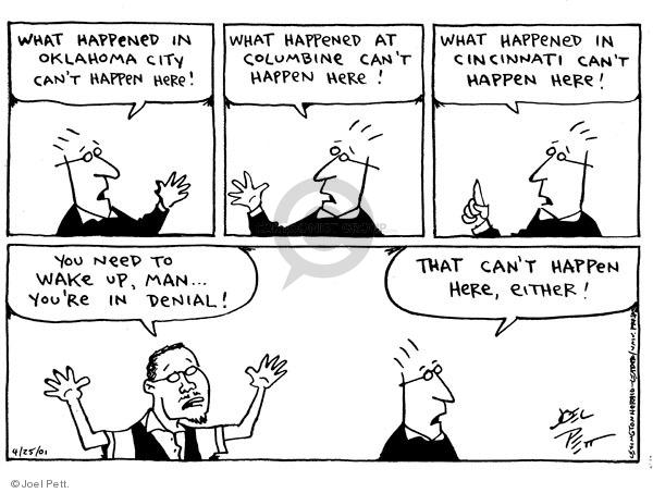 Joel Pett  Joel Pett's Editorial Cartoons 2001-04-25 domestic violence