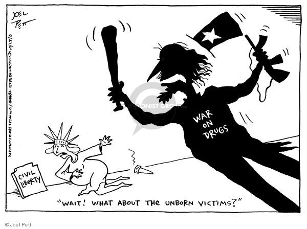 Joel Pett  Joel Pett's Editorial Cartoons 2001-04-27 drug