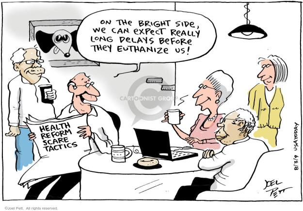 Cartoonist Joel Pett  Joel Pett's Editorial Cartoons 2009-08-07 delay