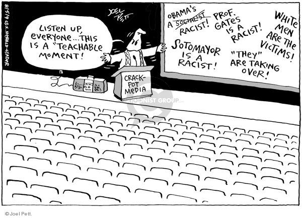 Joel Pett  Joel Pett's Editorial Cartoons 2009-08-05 racism