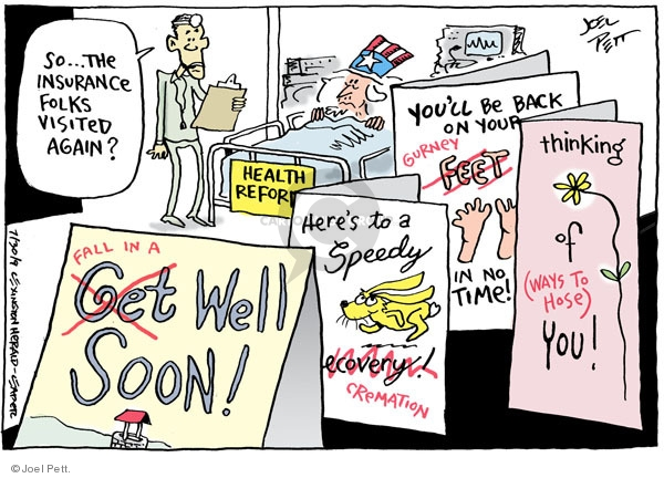Joel Pett  Joel Pett's Editorial Cartoons 2009-07-30 hospital