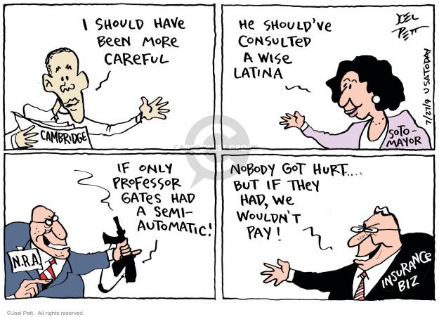 Cartoonist Joel Pett  Joel Pett's Editorial Cartoons 2009-07-26 semi-automatic