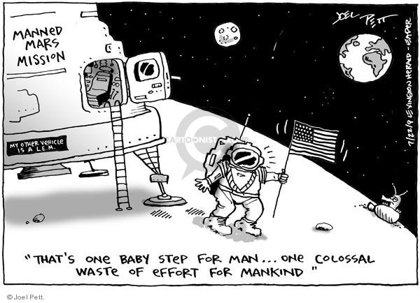 Cartoonist Joel Pett  Joel Pett's Editorial Cartoons 2009-07-22 space exploration