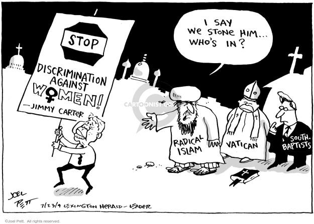 Joel Pett  Joel Pett's Editorial Cartoons 2009-07-23 female