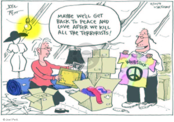 Cartoonist Joel Pett  Joel Pett's Editorial Cartoons 2009-08-10 killer